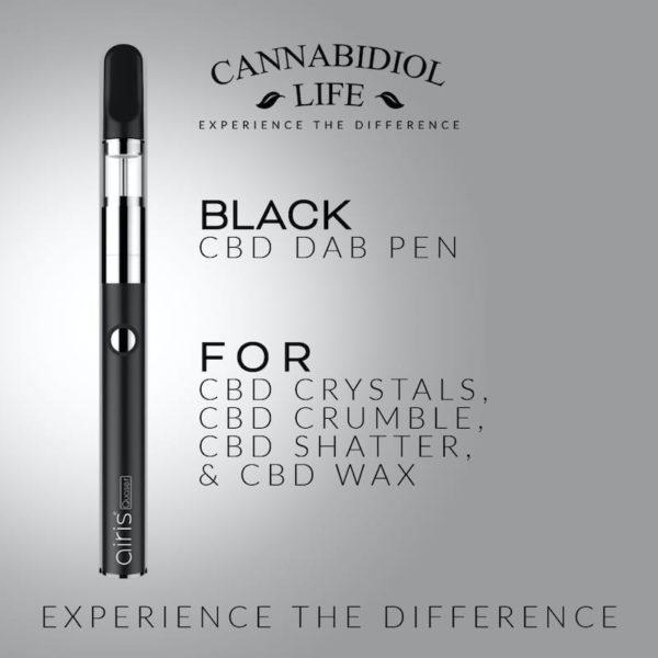 Black cbd dab concentrate pen - rechargeable cbd dab pen: 350mah