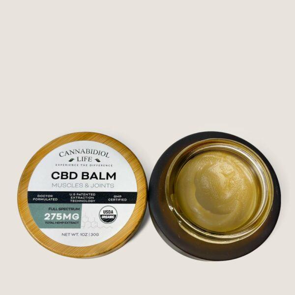 Cannabidiol Life Cbd Balm Cap Off Open Jar