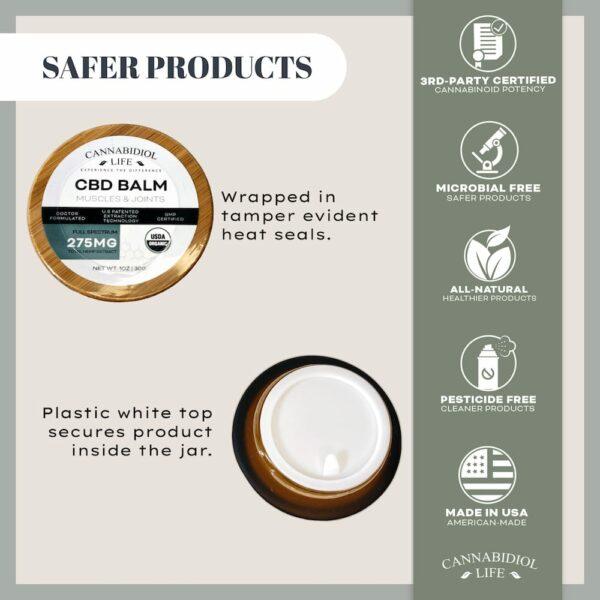 Cannabidiol Life Cbd Balm Product Safety Protocols