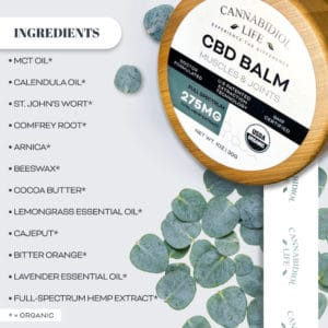 cbd balm high quality organic ingredients list