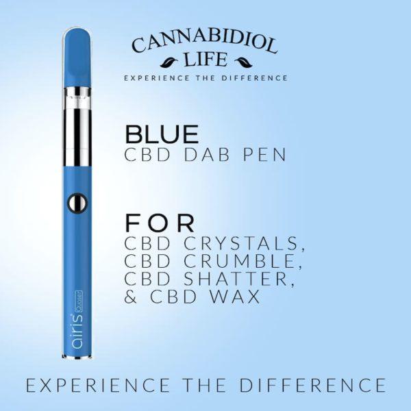 rechargeable cbd dab pen blue 350mah