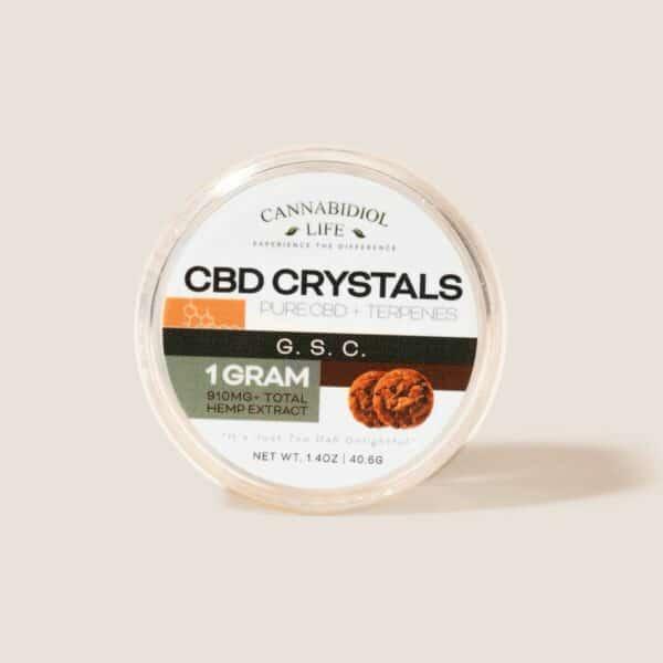 Cannabidiol Life G.s.c. Pure Cbd + Terpenes Cbd Crystals - 1G 910Mg Of Total Hemp Extract
