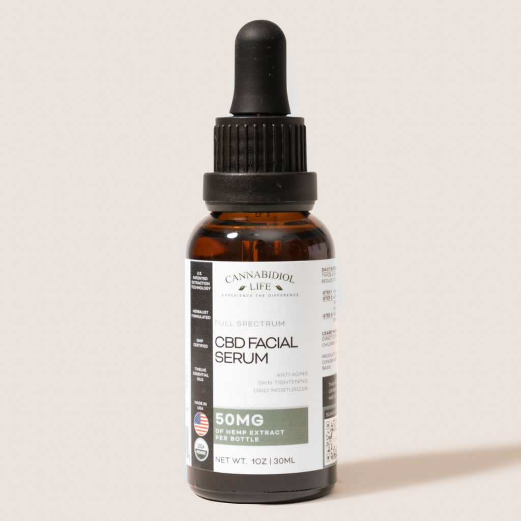 Cannabidiol Life Full Spectrum CBD Facial Serum - 50mg of Hemp Extract Per Bottle
