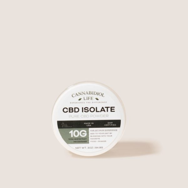 Cannabidiol Life Pure Cbd Isolate - 10G Of Total Hemp Extract Per Container