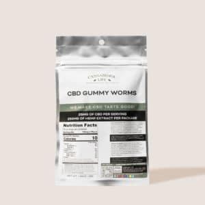 Cannabidiol Life CBD Gummy Worms - 250mg of Hemp Extract Per Package - 25mg of CBD Per Serving