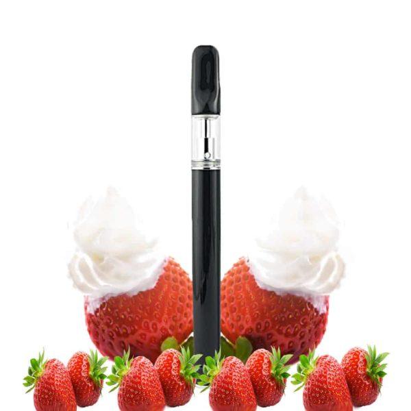 pre-filled cbd vape oil pen strawberries cream