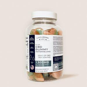 cannabidiol life pure cbd gummy watermelons 60 pieces bottle 1500 mg